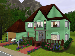 Sims 3 — Old-Style home by SaraiKisuki — A nice calm home to relax and have family time in. This home has 2 bedrooms, 2