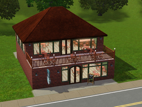 Sims 3 — Cool Beans Coffee House by MarsJenkar — Don't mess with java the hut! This coffee house was built on a small