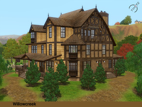 Sims 3 — Willowcreek  by timi722 — Wooden house with a naturally landscaped garden for a medium or large family. There is