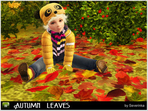 Sims 3 — Autumn leaves by Severinka_ — A carpets of autumn leaves for decoration of public area or garden. Located in