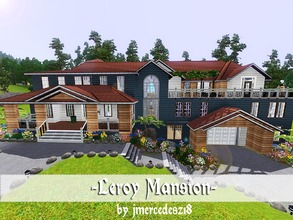 Sims 3 — Leroy Mansion by jmercedesz18 — This fabulous mansion has 4 bedrooms, 3 bathrooms, 1 laundry, 2 livingroom, 1