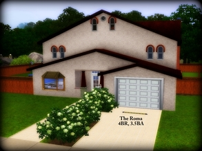 Sims 3 — The Roma -- 4BR, 3.5BA by sweetpoyzin2 — 1st floor fully furnished, 2nd floor furnished with beds and bathrooms.