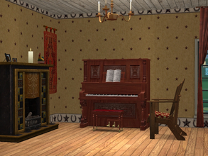 Sims 2 — Wild West Wallpaper by allison731 — Wallpaper with the theme of the Wild West. Wall Specifications: Category: