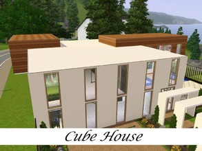 Sims 3 — Cube House by Schokobrownie952 — A house with a big garden, build for sims who want to demonstrate their