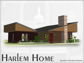 Sims 2 — Harlem Mid Century Modern Home by Padre — A mid century, 1 bed home to compliment my Harlem sets. All CC within