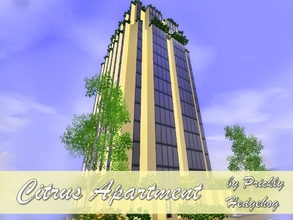 Sims 3 — Citrus Apartment by Prickly_Hedgehog — This 3 story penthouse aparment can house up to 6 sims. It has a master