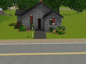 Sims 3 — Modern Brick Starters by goldenyune2 — This great for starter off .One bedroom , one bathroom.