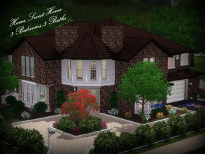 Sims 3 — Home, Sweet Home--3BR, 3BA by sweetpoyzin2 — Ground floor: 2 car garage, living room, dining room, open kitchen,