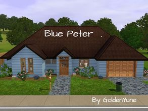 Sims 3 — Blue Peter House by goldenyune2 — 2 bedroom, 2 Bathroom , Kitchen,Living Room,1 Garage and a Small Pool for the