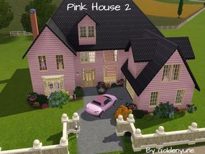 Sims 3 — Pink House 2 by goldenyune2 — This is a beautiful house for your sims to live in. 4 bedroom,3 Bathroom , Living