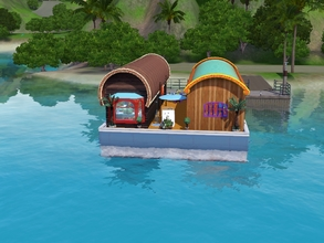 Sims 3 — Floating Vardo by Drguyks2 — Now your family can live an authentic Gypsy life in an honest to goodness double