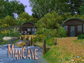 Sims 3 — ManCave by fredbrenny — Where's the lot? Where IS that Cave? It is there where it is supposed to be. It is