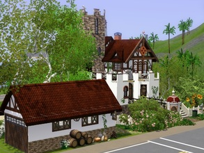 Sims 3 — Brightness Castle by wiederhoren2 — Gorgeous castle with living space, featuring one bedroom, one bathroom.