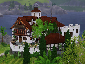 Sims 3 — Aeolica Villa by wiederhoren2 — Stunning fort with vineyard, church and living quarters.