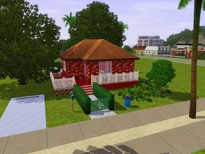 Sims 3 — Red Boxed by TigerSimming — Cute starter home featuring one bedroom, one bathroom in shades of red.