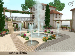 Sims 3 — Ciprus-Bistro by timi722 — Mediterranean style bistro. Perfect to operate your own restaurant, or to use in this