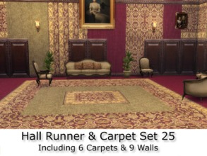 Sims 4 — Hall Runner & Carpet Set 25 Set by abormotova2 — Hall Runner & Carpet Set 25 containing 6 carpets