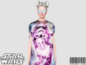 Sims 3 — Kitty Stormtrooper Baggy T-Shirt by KareemZiSims2 — If your lady sim has a boyfriend who is obsessed with Star