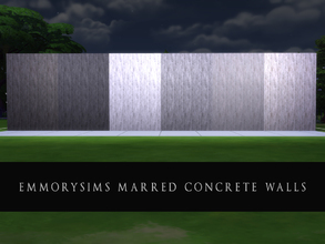 Sims 4 — Marred Concrete Walls by emmorysims2 — These walls have been scored, scarred and scratched up in order to