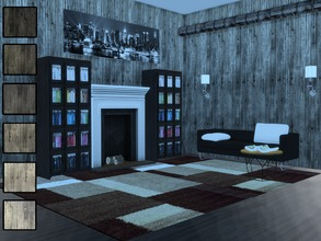Sims 4 — Anderson Industrial Concrete Walls by emmorysims2 — These are high resolution and beautifully contrasted walls