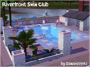 Sims 3 — River Front Swim Club by daman19942 — Indoor pool no more! The Riverview Outside Activities and Sports Trustees
