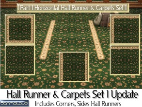 Sims 4 — Part 1 Hall Runner & Carpet Set 1 Update by abormotova2 — This is part 1 (horizontally laid) of Update of