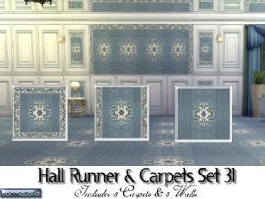 Sims 4 — Hall Runner & Carpet Set 31 by abormotova2 — Hall Runner & Carpet Set 31 includes 3