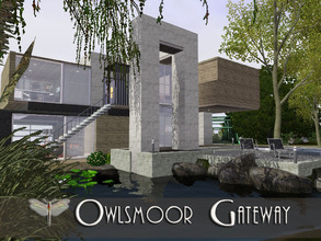 Sims 3 — Owlsmoor Gateway by fredbrenny — I started this lot with just the garage as a living space for a single guy who