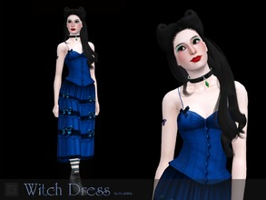 Sims 3 — Witch dress by Shushilda2 — Dress Witches from the wonderful game The Sims 1 - New mesh - 4 recolourable