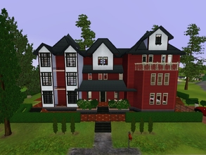 Sims 3 — Switzerland Inspired Big House by KaMiojo_ — This house was inspired by the Swiss / German style, it has three