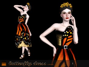 "Sims 3 — Butterfly dress by Shushilda2 — The restored copy of the ""Butterfly dress"" created by me in"