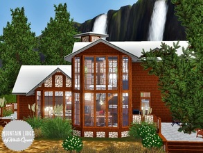 Sims 3 — Mountain Lodge by whitequeen13 — Comfortable chalet with living room, kitchen, a bedroom, a bathroom and a