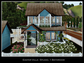 Sims 3 — Easter Villa -- Studio, 1BA by sweetpoyzin2 — A cute little villa for a fairy or a retired couple who love the