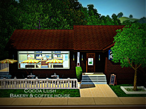 Sims 3 — Cocoa Lush Bakery & Coffeehouse by sweetpoyzin2 — Bakery, Teahouse, Coffee Bar equipped with the baker's set