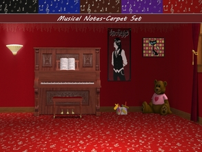 Sims 2 — Musical Notes-Carpet Set by allison731 — Carpets with musical notes in five colors.Combined pattern with notes +
