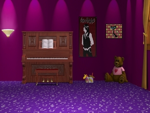 Sims 2 — Musical Notes-Purple Carpet by allison731 — Purple carpet with musical notes.Combined pattern with notes +