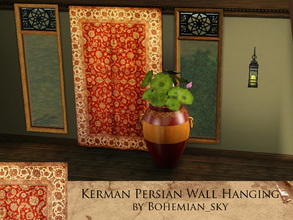 Sims 3 — Kerman Wall Hanging by Bohemian_sky — A traditional Persian Kerman rug wall hanging. A prized item. by