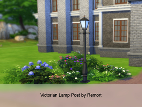 Sims 4 — Victorian Lamp Post by Remort — A beautiful old victorian lamp post which won't only light up your garden, it