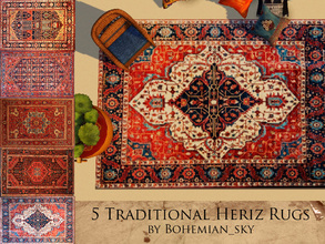 Sims 3 — Traditional Heriz Rug by Bohemian_sky — 5 Handwoven Persian Rugs - known for being durable but beautiful.