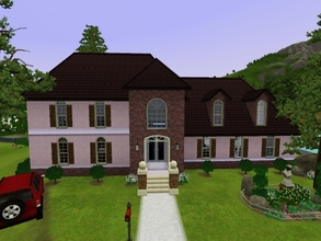 Sims 3 — France Inspired House by KaMiojo_ — This house was inspired on european/ french style; it has two floors, three