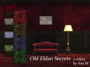 Sims 4 — Old Eldan Secrets Wallpaper & Carpet Set - 4 colors by annwang923 — Here is another little dirty work! Well