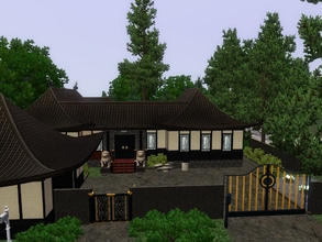Sims 3 — Zen Home by blgfan902 — This Chinese style home has two bedrooms, two bathrooms, a large kitchen with a dining