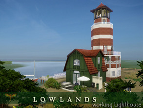 Sims 3 — Lowlands Lighthouse by fredbrenny — The lighthouse is one of the buildings I am making for Martoele's new World
