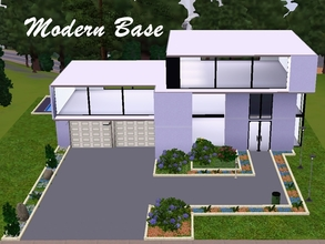 Sims 3 — Modern Base by AnaLunaM — This house is a large modern home ideal for holidays. It contains three floors. The