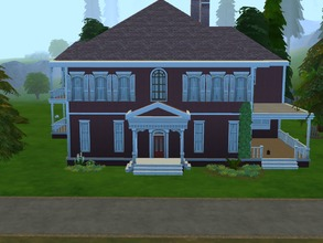 Sims 4 — Achilles Manor by LynneBbz — An attempted replica of Achilles Manor in Assassins Creed 3, featuring two bedrooms