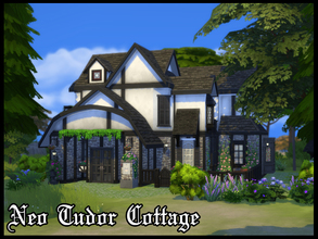 Sims 4 — Neo Tudor Cottage by A3ON97 — Cosy Tudor inspired house with a slightly more modern interior. Features: 1
