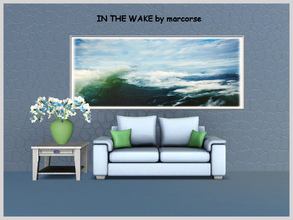 Sims 3 — In the Wake_marcorse by marcorse — Painting of the wave rising in the wake of a large motor launch. Mesh created