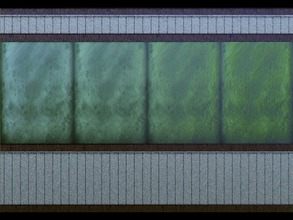 Sims 3 — Distressed Wall by BlazingFirebug — This is a distressed wall that has a dado and a crown molding. It appears to