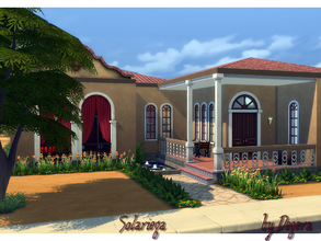 Sims 4 — Solariega by Degera — Traditional southwest style featuring four bedrooms, three bathrooms, living room, dining