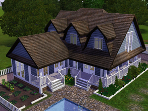 Sims 3 — Hamptonia House by Daniela_Costa — This house is inspired in the hamptons style. This house doesn't have a
